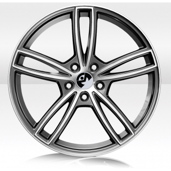 ITMAN WHEELS ASTER 8X18 ET 40 PCD 5X110 CB 65,1 Antracite Diamantato Lucido